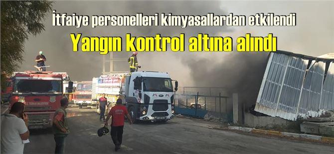 Mersin-Tarsus OSB'de Sertel fabrikasında yangın