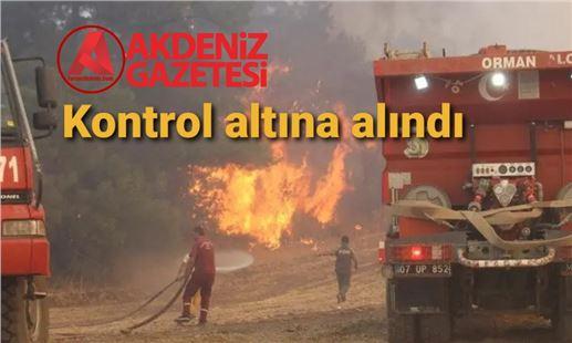 Mersin Aydıncık'taki yangın kontrol altına alındı