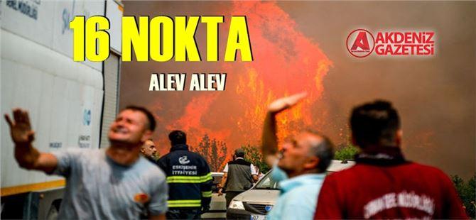Yangınların 8. gününde 16 noktada müdahaleler sürüyor