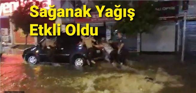 Mersin'de sağanak yağış etkili oldu