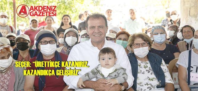 Başkan Seçer, Gülnar'da atalık nohut hasat törenine katıldı