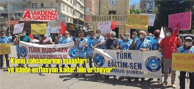 Tarsus'ta Türk Kamu-Sen'den toplu sözleşme açıklaması