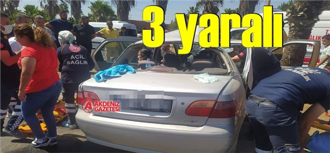 Tarsus'ta feci kaza: 3 yaralı