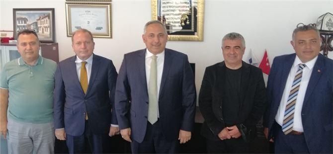 TADER Tarsuslu Daire Başkanı Göçer ve Noter Arslan'ı Ziyaret Etti