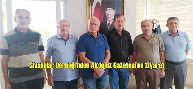 Sivaslılar Derneği'nden Akdeniz Gazetesi'ne ziyaret