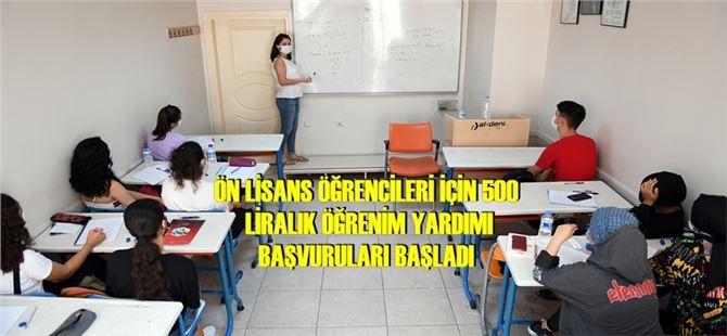 Mersin Büyükşehir'den ön lisans öğrencilerine de can suyu