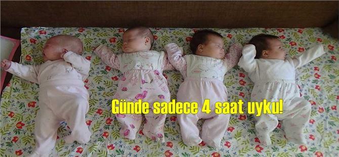 Mersin'de prematüre doğan dördüzler evlerinde