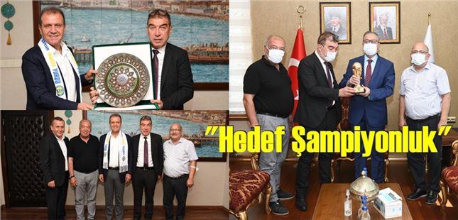 Tarsus İdmanyurdu Başkanı Kırbıyık, Vali Su ve Başkan Seçer'i Ziyaret etti