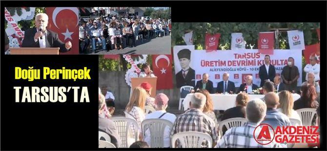 Vatan Partisi Genel Başkanı Dr. Doğu Perinçek, Tarsus'a geldi