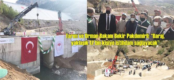 Pamukluk Barajı su tutmaya başladı