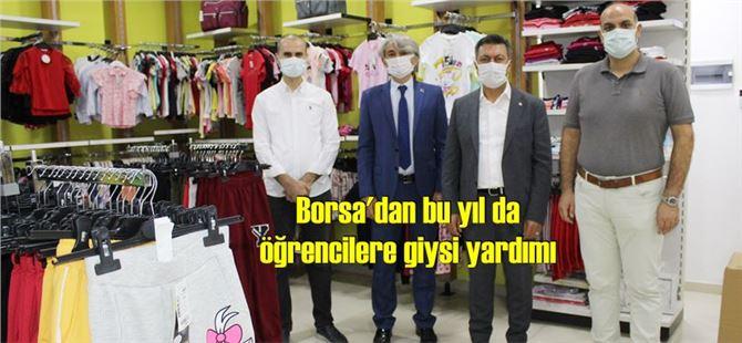 Tarsus Ticaret Borsası'ndan öğrencilere giysi yardımı