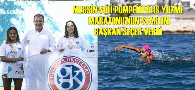 Büyükşehir, Mersin tarihinin ilk yüzme maratonunu gerçekleştirdi