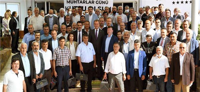 Başkan Seçer, 19 Ekim Muhtarlar Günü'nde Gülnar'da muhtarlarla buluştu