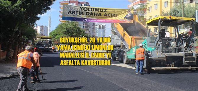 20 yıldır yamalı olan yol Büyükşehir'le asfaltlandı