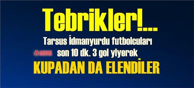 Kupa maçı; Amed Sportif 3- Tarsus İdmanyurdu 2