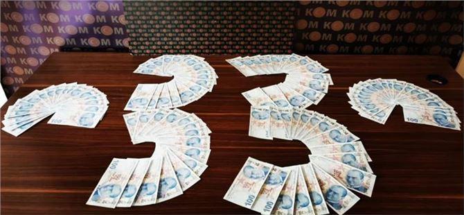Mersin'de 10 bin 300 lira sahte para ele geçirildi
