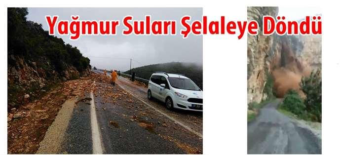 Tarsus'ta Yağmur Suları Şelaleye Döndü