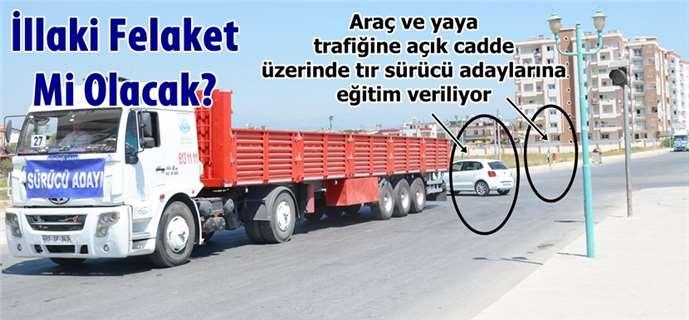 Tarsus'ta tehlikeli sürücü eğitimi!