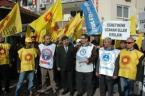 Tarsus'ta öğretmen saldırılarına tepki eylemi görüntüsü